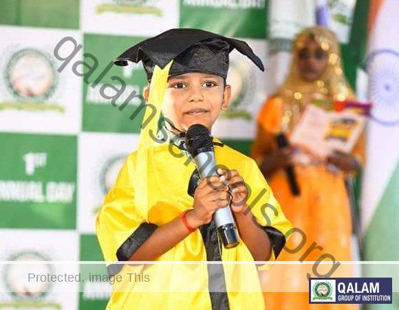 graduation day - child in mic